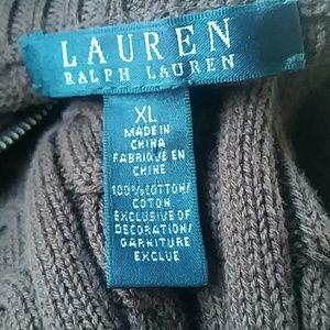 Ralph Lauren cable knit crest zipper cardigan